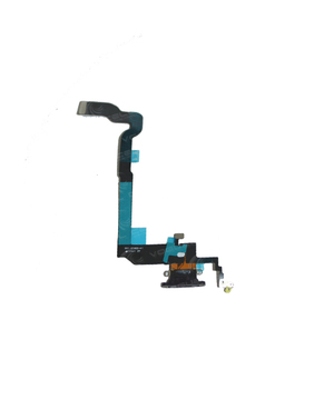 CABO FLEXÍVEL IPHONE X CONECTOR DE CARGA PRETO